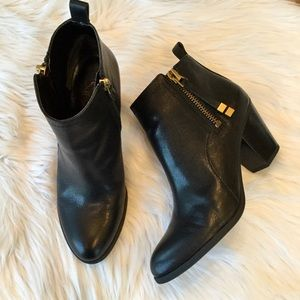 Franco Sarto Diana Leather Ankle Boots, 8.5